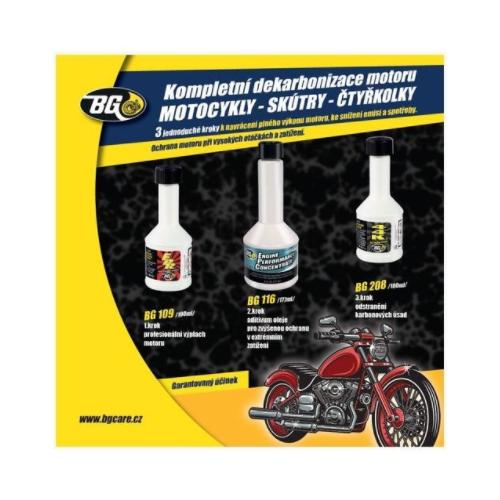 dekarbonizace pro 4-taktní motocykly, čtyřkolky a skútry